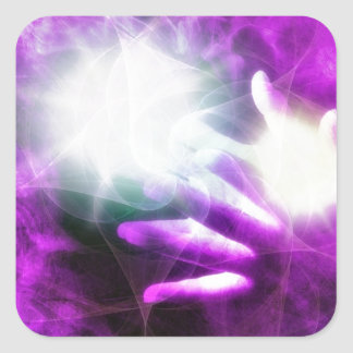 Healing hands 4 square sticker