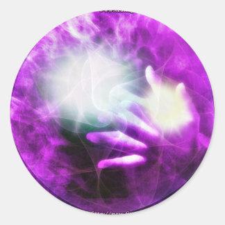 Healing hands 4 classic round sticker