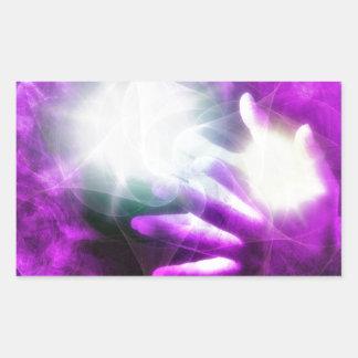 Healing hands 4 rectangular sticker