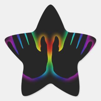 healing hands 5 star sticker
