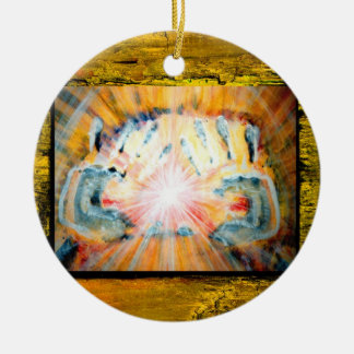 Healing Hands & Cross of Protection Christmas Ornament
