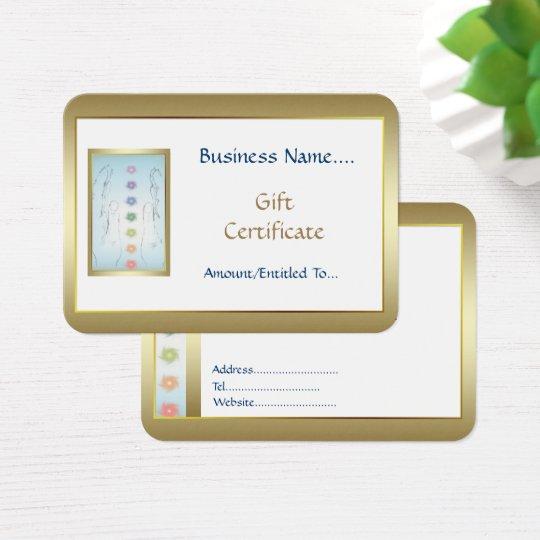 Healing Hands Holistic Gift Card design