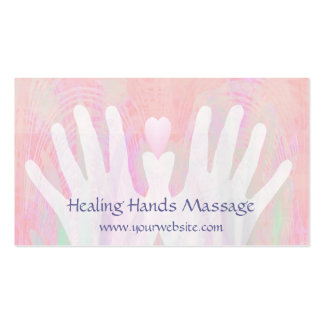 Healing Hands Light Pink Double-Sided Standard Business Cards (Pack Of 100)