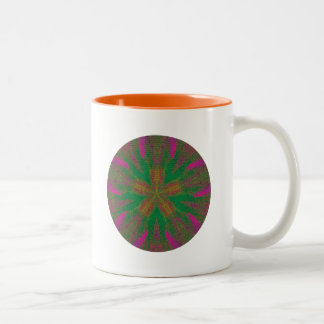 Healing Hands Mandala Two-Tone Mug