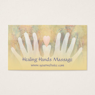 Healing Hands Massage Business Card