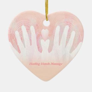 Healing Hands Massage Christmas Ornament