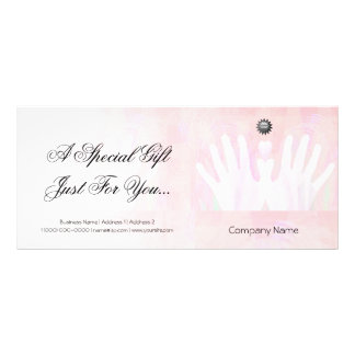 Healing Hands Massage Gift Certificate 10 Cm X 23 Cm Rack Card