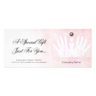 Healing Hands Massage Gift Certificate Full Color Rack Card