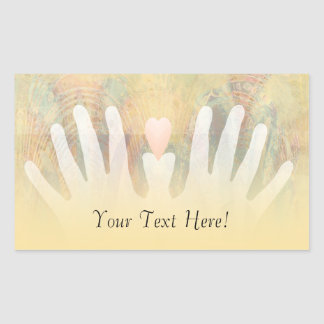 Healing Hands Massage Rectangular Sticker
