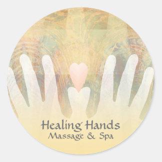 Healing Hands Massage & Spa Round Sticker
