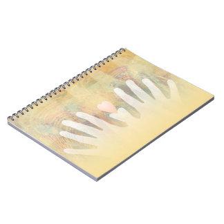 Healing Hands Massage Spiral Note Book