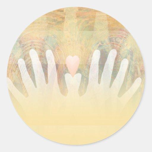 Healing Hands Massage Sticker