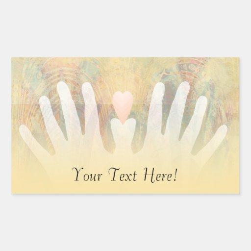 Healing Hands Massage Rectangle Stickers