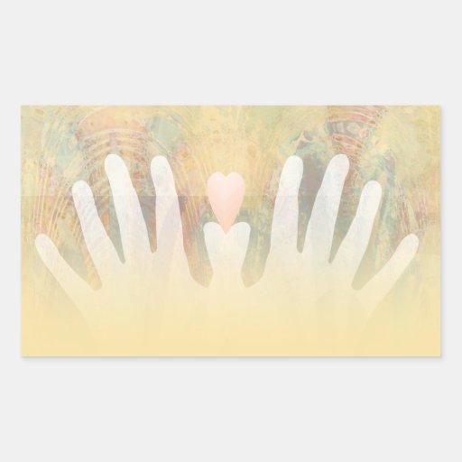 Healing Hands Massage Rectangular Sticker
