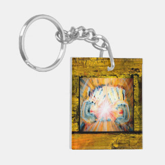 Healing Hands & Path of Life Double-Sided Square Acrylic Key Ring