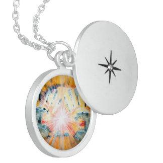 Healing Hands Round Locket Necklace