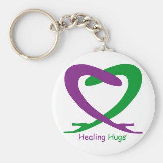 Healing Hugs Basic Round Button Key Ring