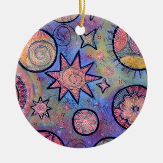 Healing Light Abstract Cosmic Pattern Christmas Ornament