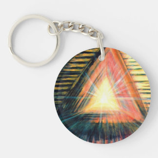 Healing Light & Healing Hands Double-Sided Round Acrylic Key Ring
