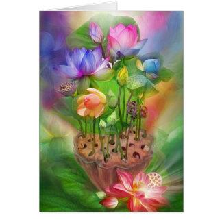Healing Lotus Chakras Art Card