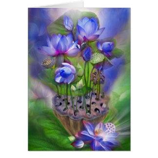 Healing Lotus Third Eye Chakra Art Card