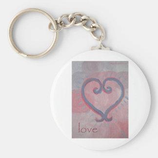 Healing Love Basic Round Button Key Ring