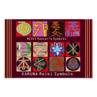 Healing Master's Symbols - Premium Paper Poster