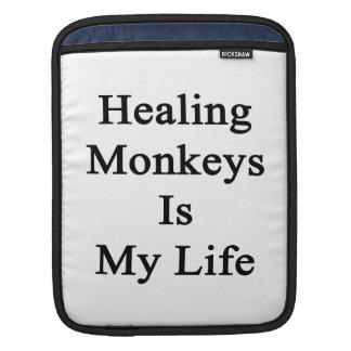 Healing Monkeys Is My Life iPad Sleeve