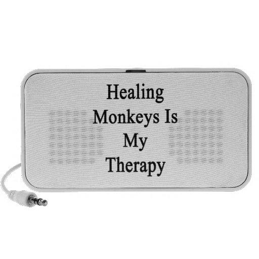 Healing Monkeys Is My Therapy Mini Speakers