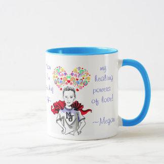 Healing Powers of Love - Megan the Hero Mug