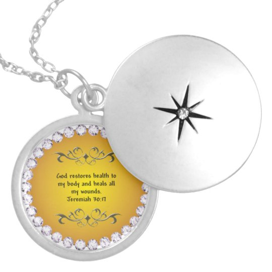 Healing Prayer Locket Jeremiah 30:17