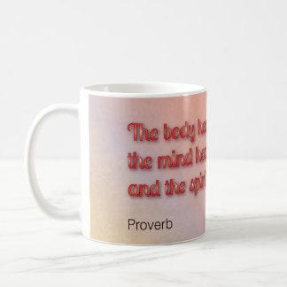 Healing Proverb Classic White Coffee Mug