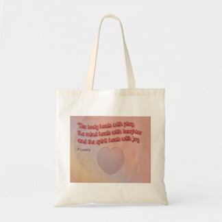 Healing Proverb with Heart Tote Bag