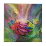 Healing Rose Fine Art Tile