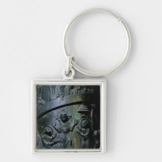 Healing the Blind Silver-Colored Square Key Ring