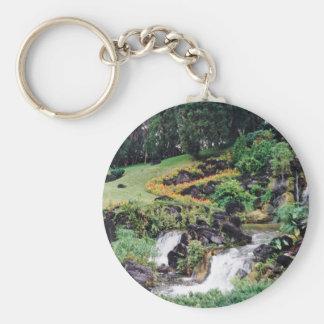 Healing Water Basic Round Button Key Ring