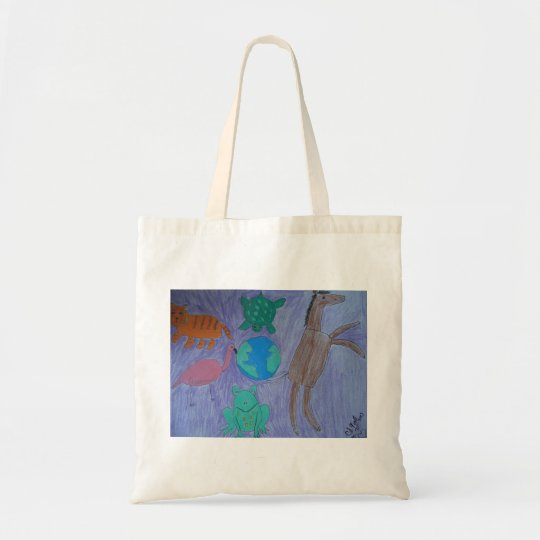 Healing with art tote bag