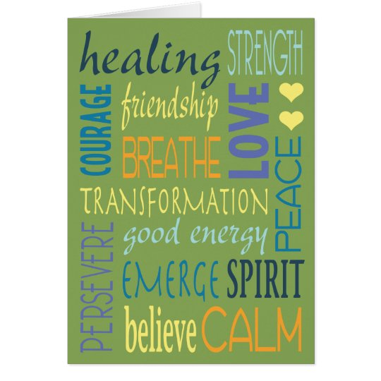Healing Words Encouragement Card