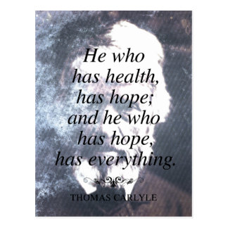 Health and Hope Quote Postcard
