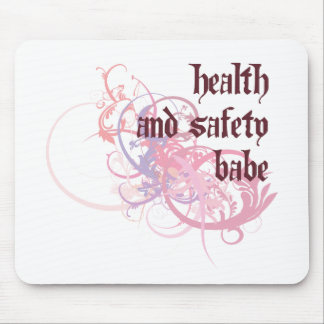 Health and Safety Babe Mouse Mat