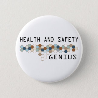 Health and Safety Genius 6 Cm Round Badge