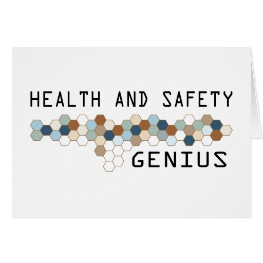 Health and Safety Genius Greeting Card