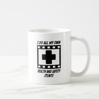 Health and Safety Stunts Basic White Mug