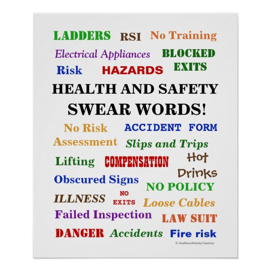 Health and Safety Swear Words - Annoying But