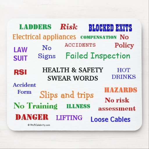 Health and Safety Swear Words & Rude Expletives! Mouse Pads