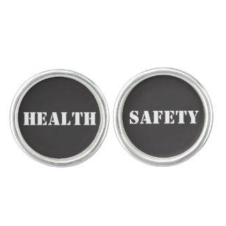 Health and Safety Words Design Cufflinks