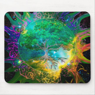 Health and Vitality Tree of Life Mouse Mat
