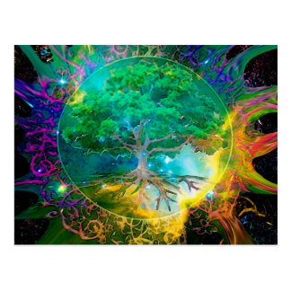 Health and Vitality Tree of Life Postcard