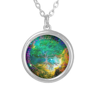 Health and Vitality Tree of Life Silver Plated Necklace