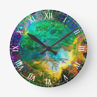 Health and Vitality Tree of Life Wallclock